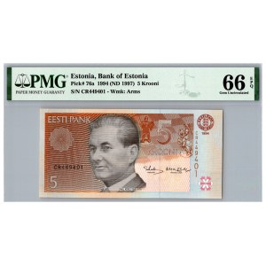 Estonia 5 krooni 1994 - PMG 66 EPQ