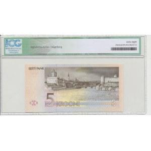 Estonia 5 krooni 1994. ICG 68 Gem UNC