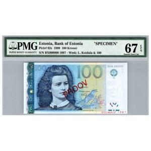 Estonia 100 krooni 1999 - PMG 67 EPQ  - SPECIMEN