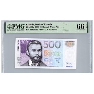 Estonia 500 krooni 2000 - PMG 66 EPQ