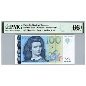 Estonia 100 krooni 2007 - PMG 66 EPQ