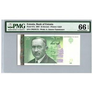 Estonia 25 krooni 2007 - PMG 66 EPQ