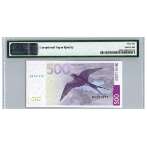 Estonia 500 krooni 2007 - PMG 66 EPQ