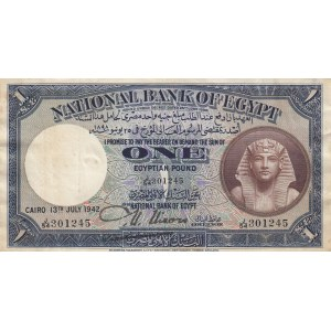 Egypt 1 pound 1942