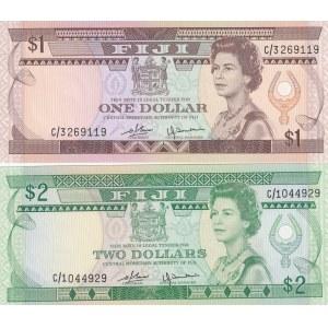 Fiji 1 & 2 dollars 1980
