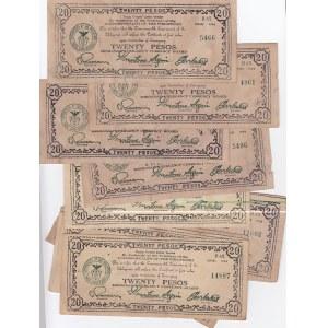 Philippines 20 pesos 1944 Mindanao (15 pcs)