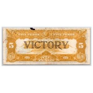 Philippines 5 pesos 1944 victory