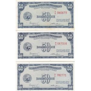 Philippines 50 centavos 1949 (3 pcs)