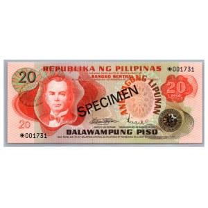 Philippines 20 piso 1978 - SPECIMEN
