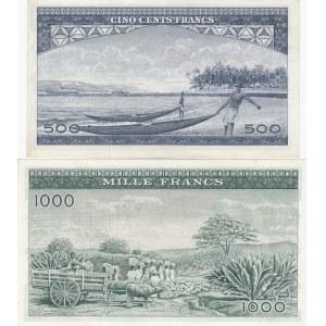 Guinea 500 & 1000 francs 1960
