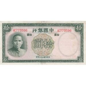 China 10 yuan 1937