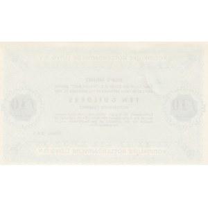 Netherlands 10 gulden 1957 ship's money