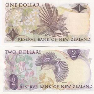 New Zealand 1 & 2 dollars 1968