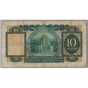 Hong kong - Hongkong & Shanghai Banking Corp. 10 Dollars 31.3.1976