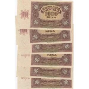 Croatia 1000 kuna 1941 (6 pcs)