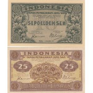 Indonesia 10 & 25 sen 1947