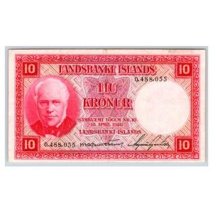 Iceland 10 kronur 1928