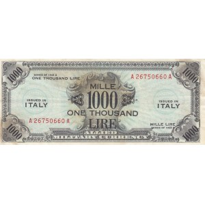 Italy 1000 lire 1943 A military