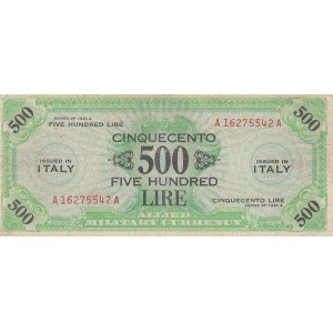 Italy 500 lire 1943 A military