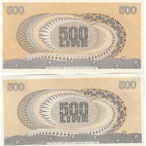 Italy 500 lire 1966 & 67 (2)