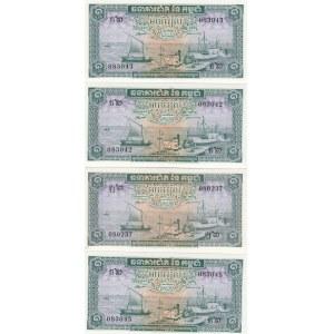 Cambodja 1 riel 1956-75 (4)