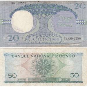 Congo Democratic Republic 20 & 50 francs 1962