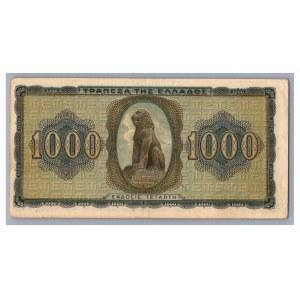 Greece 1000 drachmai 1942