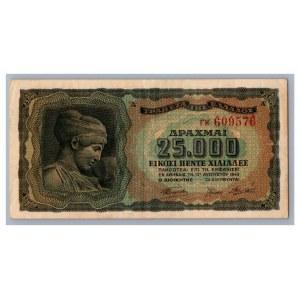 Greece 25 000 drachmai 1943