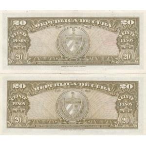 Cuba 20 pesos 1958 & 1960