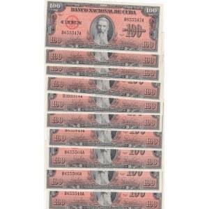 Cuba 100 pesos 1959 (10 pcs)