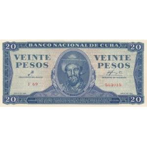 Cuba 20 pesos 1961