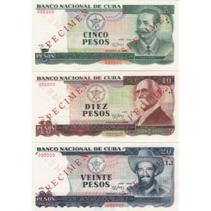 Cuba 5-20 pesos 1991 specimens