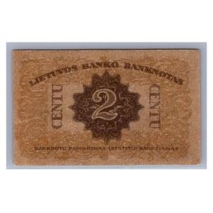 Lithuania 2 centu 1922 G
