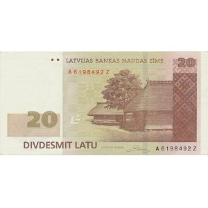 Latvia 20 lats 2009 - replacement note