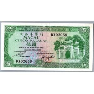 Macao 5 patacas 1981