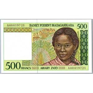 Madagascar 500 francs 1994-2004