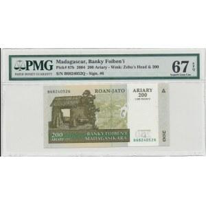 Madagaskar 200 ariary 2004 - PMG 67 EPQ