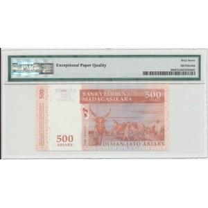 Madagaskar 500 ariary 2004 - PMG 67 EPQ