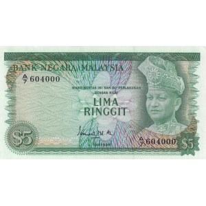 Malaysia 5 ringgit 1967-72