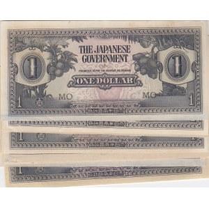 Malaya 1 dollar 1942 Japanese goverment (15 pcs)