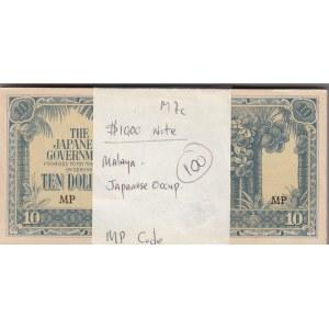 Malaya 10 dollars 1942-44 Japanese gov. (100 pcs)