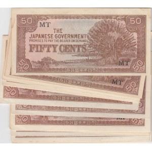 Malaya 50 cents 1942 Japanese goverm. (20 pcs)