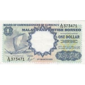 Malaya & British Borneo 1 dollar 1959