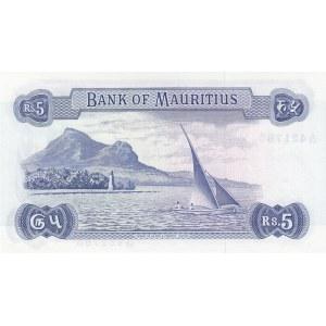 Mauritius 5 rupees 1967