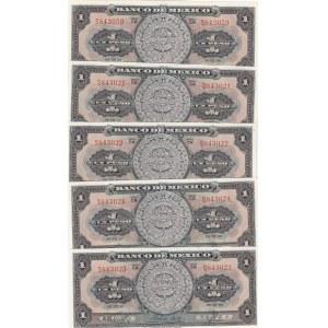 Mexico 1 peso 1950 (5 pcs)