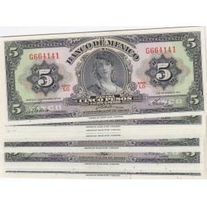Mexico 5 pesos 1961 (10 pcs)