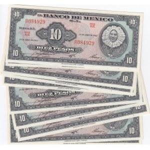Mexico 10 pesos 1963 (10 pcs)