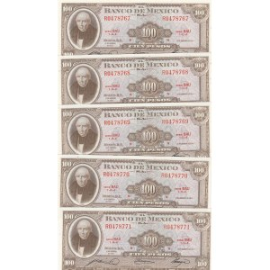 Mexico 100 pesos 1965 (5 pcs)