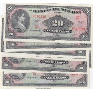 Mexico 20 pesos 1970 (10 pcs)