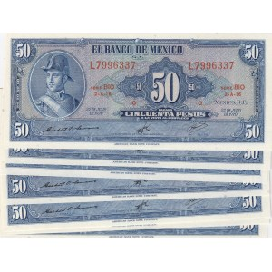 Mexico 50 pesos 1970 (10 pcs)